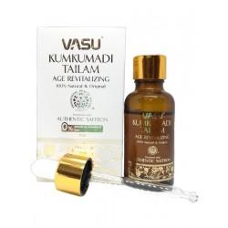 KUMKUMADI TAILAM Age Revitalizing, Vasu (МАСЛО КУМКУМАДИ Антивозрастное, 100% натуральное, с шафраном, Васу), 25 мл.