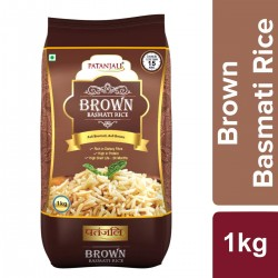 Коричневый рис Басмати 1 кг, Patanjali Brown Basmati Rice