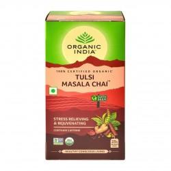 Органический Чай Тулси со специями Масала (Tulsi Masala Chai ORGANIC INDIA), 25 пакетиков.