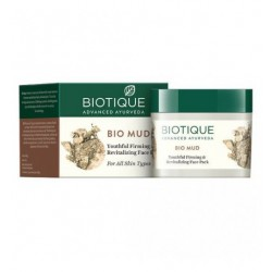 Маска для лица и шеи Био Лечебная Глина Биотик (Bio Mud Youthful Firming&Revitalizing Face Pack BIOTIQUE), 50г