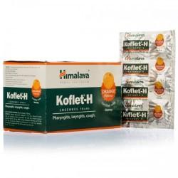 Кофлет леденцы при воспаление горла с Апельсином обогащенные Медом (Koflet-H HIMALAYA), 1 блистер - 6 шт.