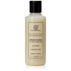 Кондиционер для волос Шикакай и Мед без СЛС и Парабенов (Shikakai & Honey Conditioner KHADI), 210 мл