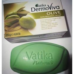 "Мыло ""Dabur Vatika DermoViva"" Olive Nourishing Soap 115 гр - Олива"