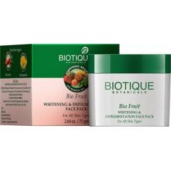Фруктовая маска для лица против пигментации отбеливающая (BioFruit Whitening&Depigmentation BIOTIQUE), 75 гр