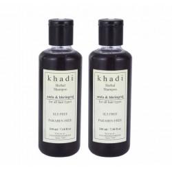 Шампунь «Амла и бринградж» Khadi , без СЛС и парабенов Khadi Herbal Shampoo Amla & Bhringraj