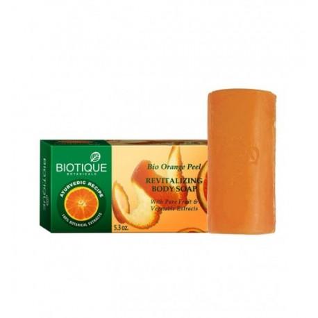 Восстанавливающее аюрведическое мыло с цедрой Апельсина (Bio Orange Peel BIOTIQUE), 150 г.
