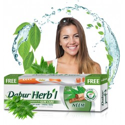 """Зубная паста """"Дабур Херб'л Ним"""" (Dabur Herb'l Neem Toothpaste) 150 гр+зуб.щет"""