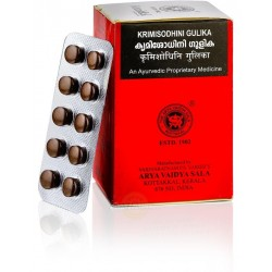 Кримишодхини Антипаразитарный препарат (Krimisodhini Gulika ARYA VAIDYA SALA), 100 таб.